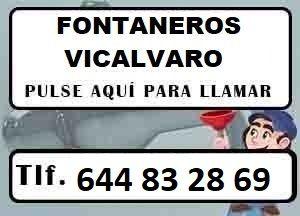 Fontaneros Vicalvaro Madrid Urgentes